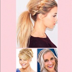 Madison Braids Blonde Headband Braid